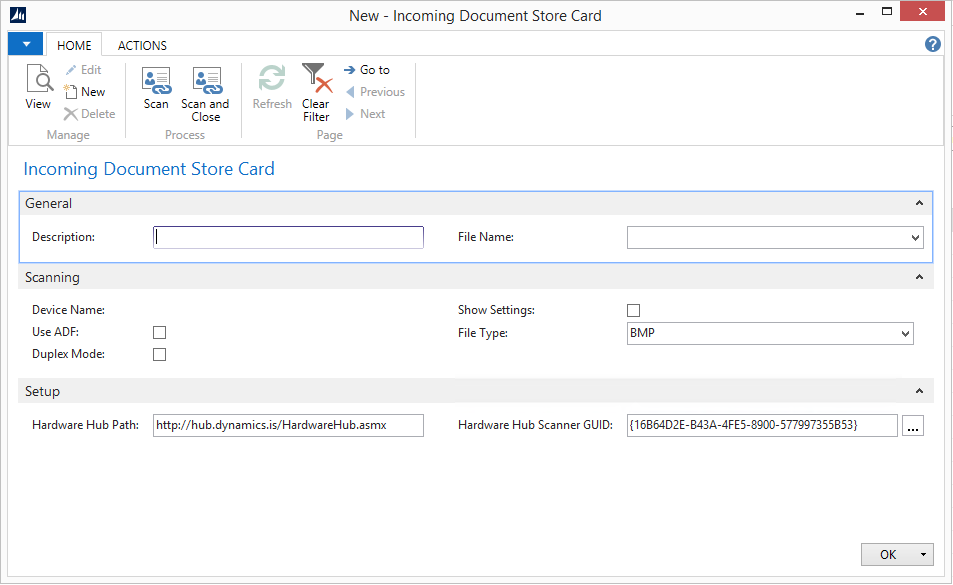 Incoming Document Scanning Add-on for NAV 2013 R2 Image