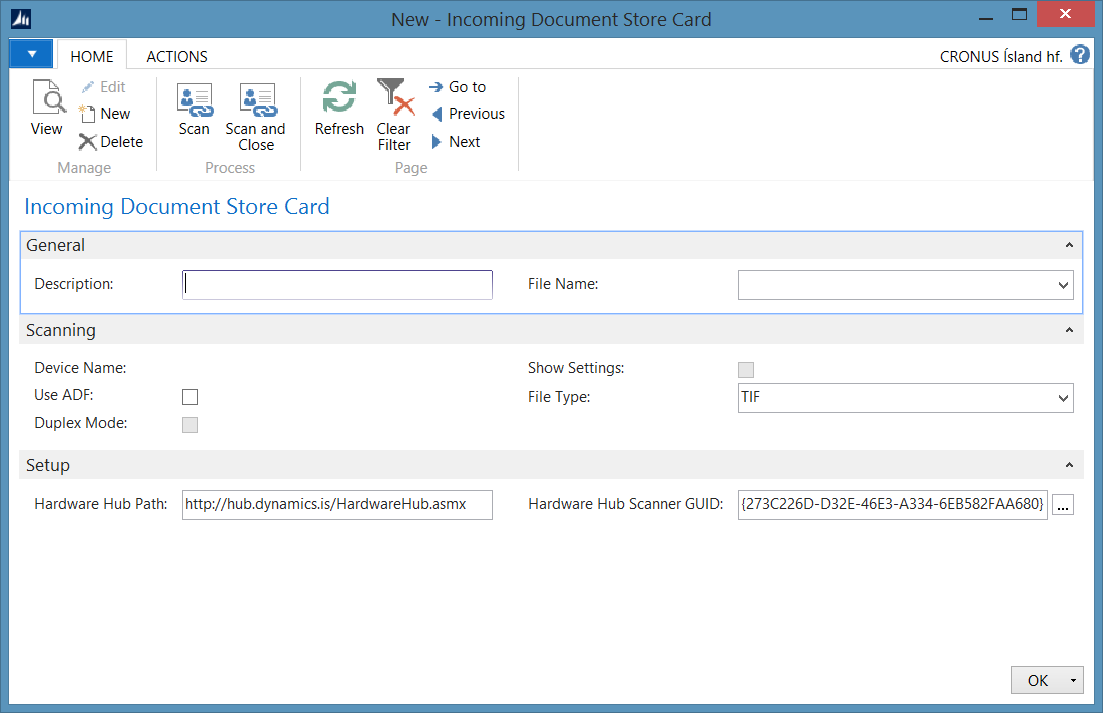 Incoming Document Scanning Add-on for NAV 2015 Image